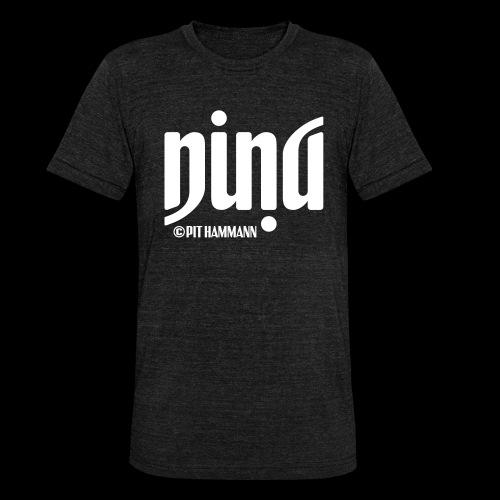 Ambigramm Nina 01 Pit Hammann - Unisex Tri-Blend T-Shirt von Bella + Canvas