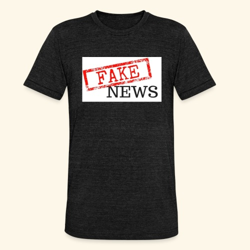 fake news - Unisex Tri-Blend T-Shirt by Bella & Canvas