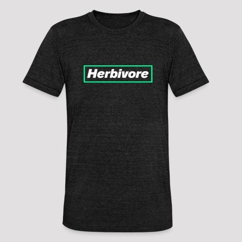 Herbivore Logo White - Maglietta unisex tri-blend di Bella + Canvas