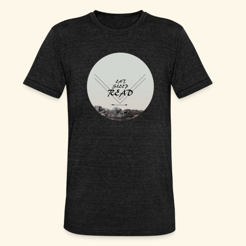 Eat, Sleep, Read - Triblend-T-shirt unisex från Bella + Canvas
