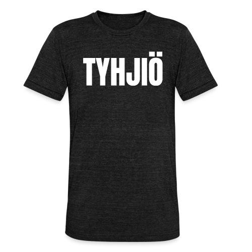 TYHJIÖ Logo White - Bella + Canvasin unisex Tri-Blend t-paita.