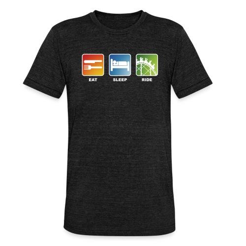 Eat, Sleep, Ride! - T-Shirt Schwarz - Unisex Tri-Blend T-Shirt von Bella + Canvas