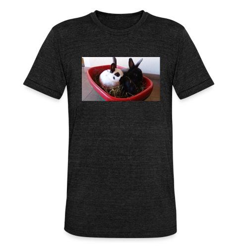 Warme Sachen mit dem Hasenlogo - Unisex Tri-Blend T-Shirt von Bella + Canvas