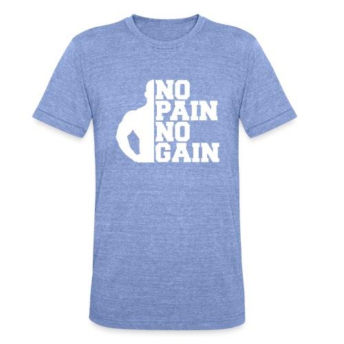 no pain no gain - T-shirt chiné Bella + Canvas Unisexe