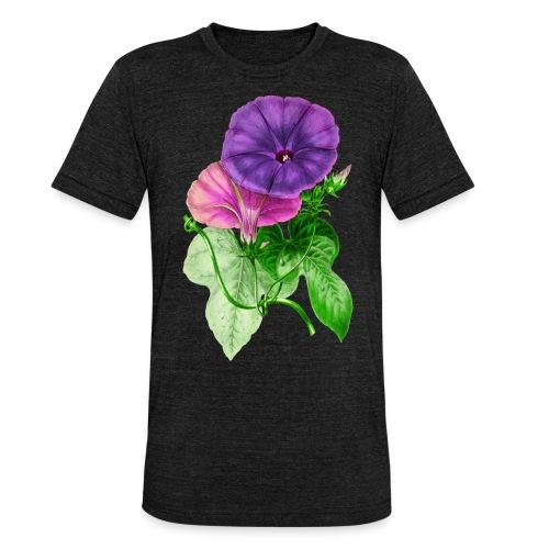vintage mallow flower - Camiseta Tri-Blend unisex de Bella + Canvas