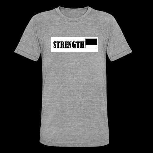 STRENGTH - Bella + Canvasin unisex Tri-Blend t-paita.