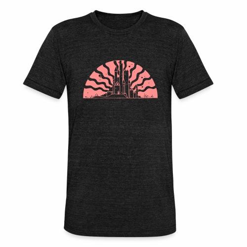 Fairytale Castle Sunrise - Unisex Tri-Blend T-Shirt von Bella + Canvas