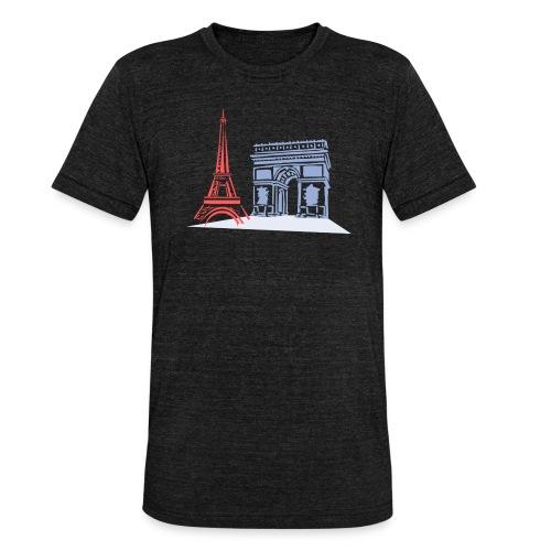 Paris - T-shirt chiné Bella + Canvas Unisexe