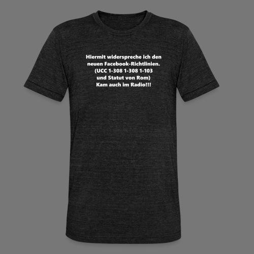 Facebook-AGB - Männer - Unisex Tri-Blend T-Shirt von Bella + Canvas