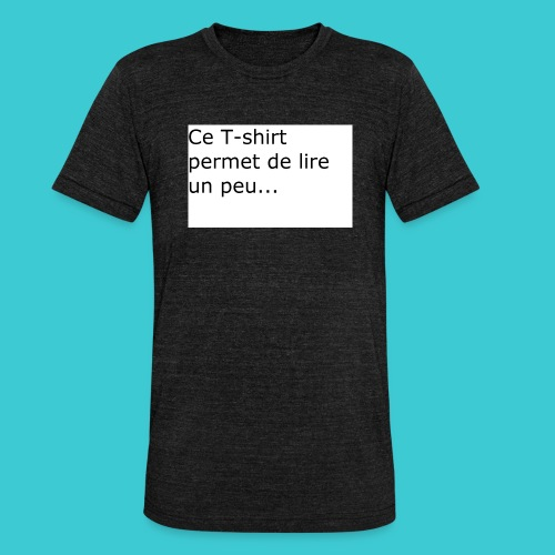 t shirt3 - T-shirt chiné Bella + Canvas Unisexe