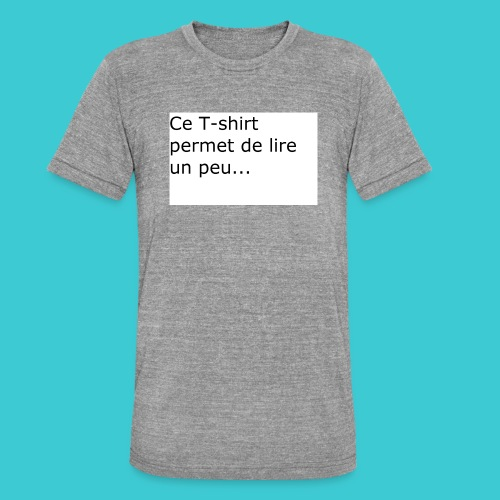 t shirt3 - T-shirt chiné Bella + Canvas Unisexe