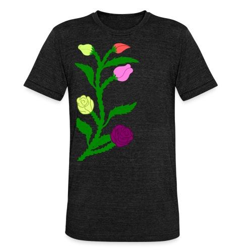 fleurs - T-shirt chiné Bella + Canvas Unisexe