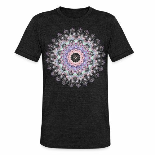 Hvid mandala - Unisex tri-blend T-shirt fra Bella + Canvas