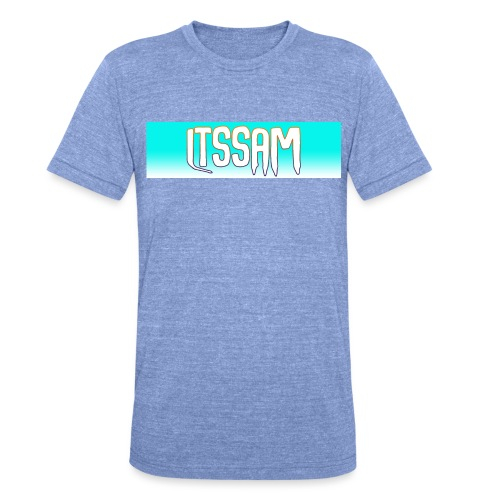 Classic ItsSam Box Logo Fade - Unisex Tri-Blend T-Shirt by Bella & Canvas