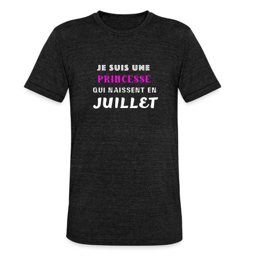 je suis une princesse qui naissent juillet - T-shirt chiné Bella + Canvas Unisexe