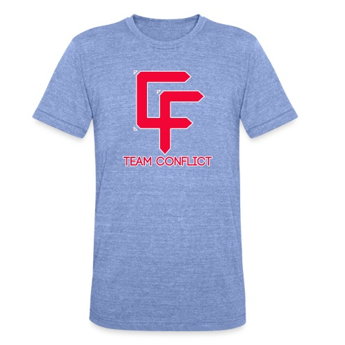 CF Final White Border t shirts with text - Unisex Tri-Blend T-Shirt by Bella & Canvas