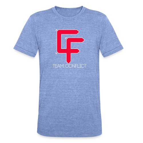 CF Final White Border t shirts with text thin whit - Unisex Tri-Blend T-Shirt by Bella & Canvas