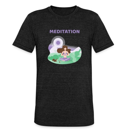 Yoga Meditation - Maglietta unisex tri-blend di Bella + Canvas