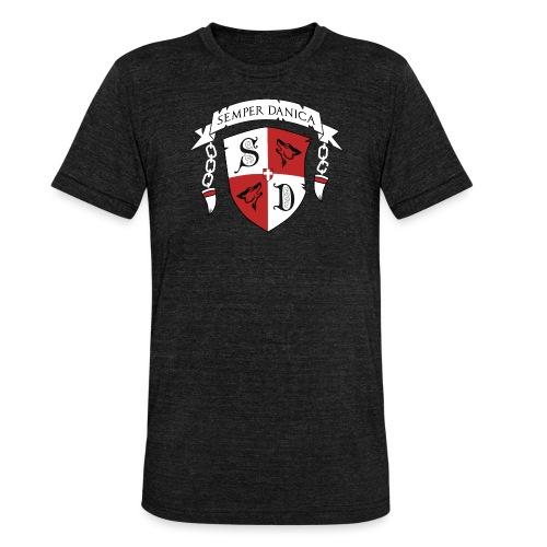 SD logo - hvide lænker - Unisex tri-blend T-shirt fra Bella + Canvas
