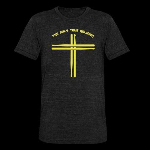 True Religion - Unisex Tri-Blend T-Shirt von Bella + Canvas