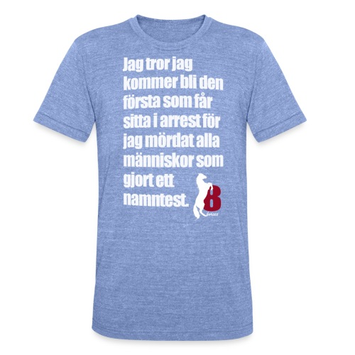 HorseBook line - Triblend-T-shirt unisex från Bella + Canvas