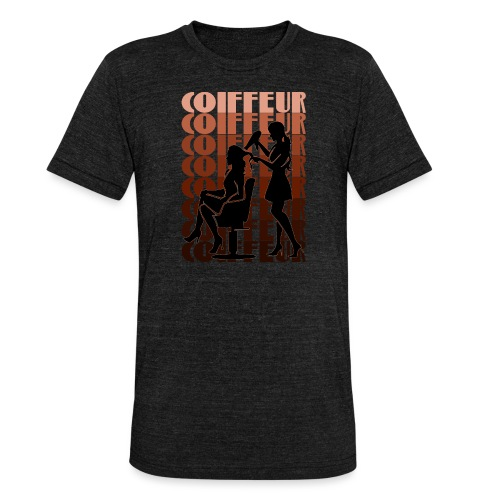 Coiffeur - Unisex Tri-Blend T-Shirt von Bella + Canvas