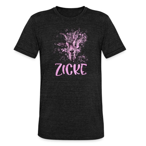 Zicke - Unisex Tri-Blend T-Shirt von Bella + Canvas
