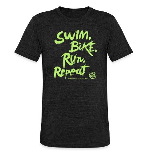 Swim. Bike. Run. Repeat - Maglietta unisex tri-blend di Bella + Canvas