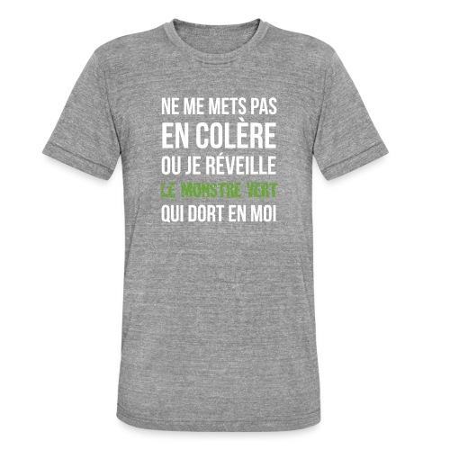 Monstre vert - T-shirt chiné Bella + Canvas Unisexe