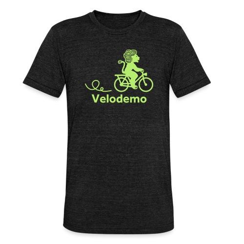 Züri-Leu mit Text - Unisex Tri-Blend T-Shirt von Bella + Canvas