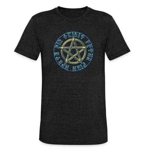 Runen Pentagramm Elemente Schutz Amulett Magie - Unisex Tri-Blend T-Shirt von Bella + Canvas