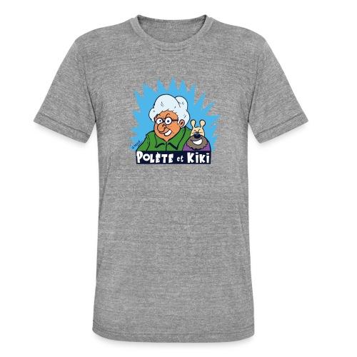 tshirt polete et kiki - T-shirt chiné Bella + Canvas Unisexe