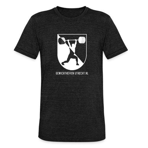 Modern Logo - Unisex tri-blend T-shirt van Bella + Canvas