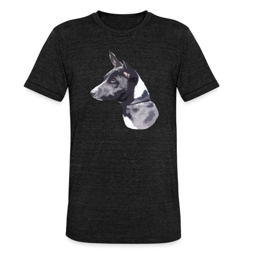 basenji black - Unisex tri-blend T-shirt fra Bella + Canvas