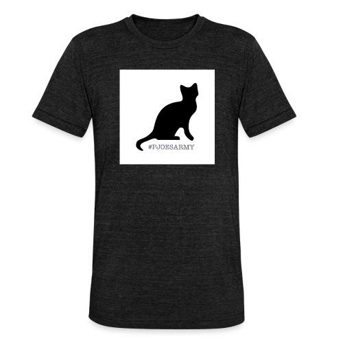#pjoesarmy met poes - Unisex tri-blend T-shirt van Bella + Canvas