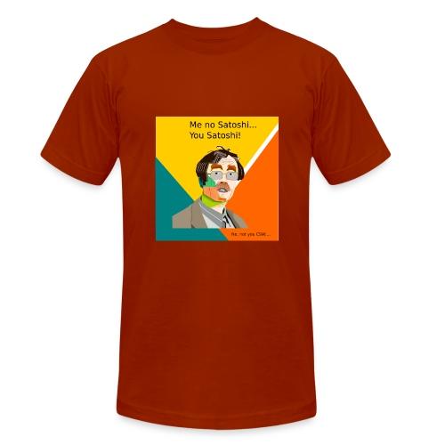 You're the real Satoshi Nakamoto - Unisex tri-blend T-shirt van Bella + Canvas
