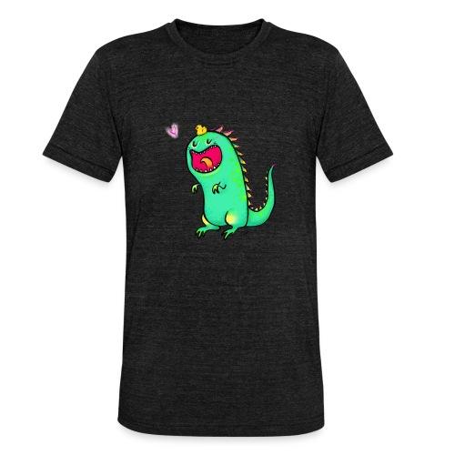 Happy Dinosaurier - Unisex Tri-Blend T-Shirt von Bella + Canvas