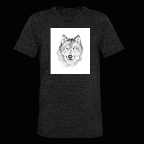 Wolf - Unisex tri-blend T-shirt fra Bella + Canvas
