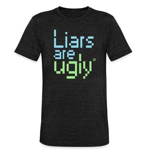 Liars Are Ugly - Unisex tri-blend T-shirt van Bella + Canvas