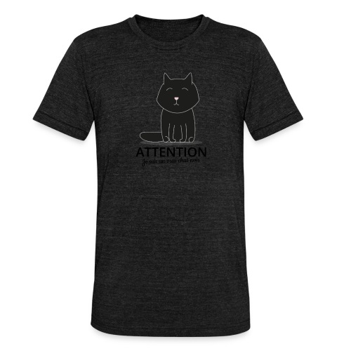 Chat noir - T-shirt chiné Bella + Canvas Unisexe