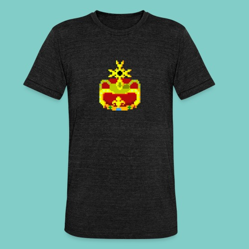 Couronne Pixel art - T-shirt chiné Bella + Canvas Unisexe