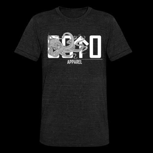 OctoApparel Logo weiss - Unisex Tri-Blend T-Shirt von Bella + Canvas