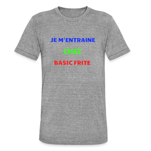 Basic Frite - T-shirt chiné Bella + Canvas Unisexe