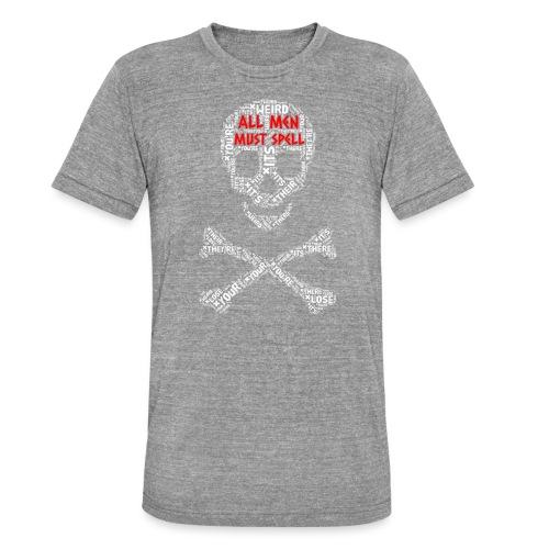 All Men Must Spell - Unisex tri-blend T-shirt fra Bella + Canvas