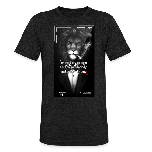Motivational Quote Clothes Motivation - Triblend-T-shirt unisex från Bella + Canvas