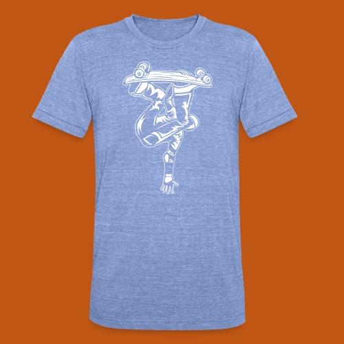 Skater / Skateboarder 03_weiß - Unisex Tri-Blend T-Shirt von Bella + Canvas
