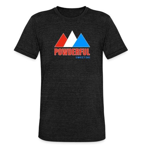 Powderful Sweet Ski - Unisex Tri-Blend T-Shirt von Bella + Canvas