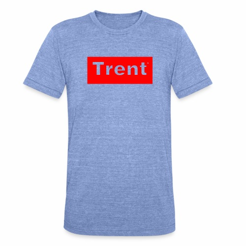 TRENT classic red block - Unisex Tri-Blend T-Shirt by Bella & Canvas