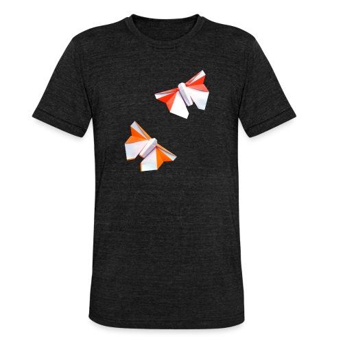 Butterflies Origami - Butterflies - Mariposas - Unisex Tri-Blend T-Shirt by Bella & Canvas