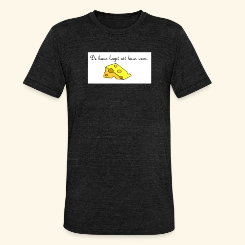 Kaas loopt uit haar oren - Temptation - Unisex tri-blend T-shirt van Bella + Canvas
